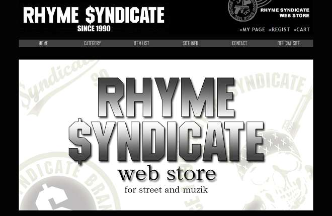 RHYME SYNDICATE WEB STORE